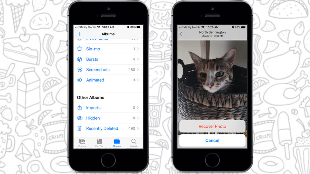 How to find deleted photos on iPhone