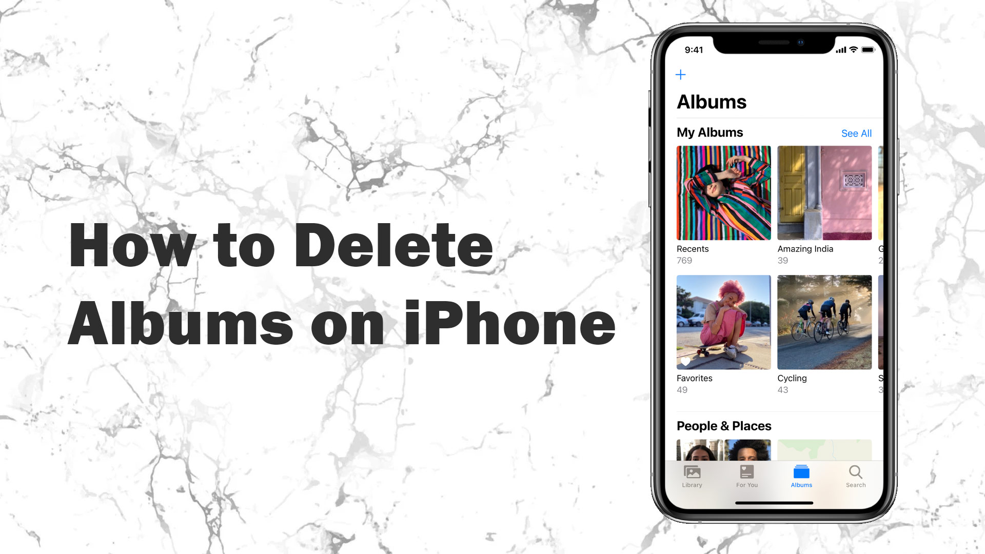 how to delete albums on iphone