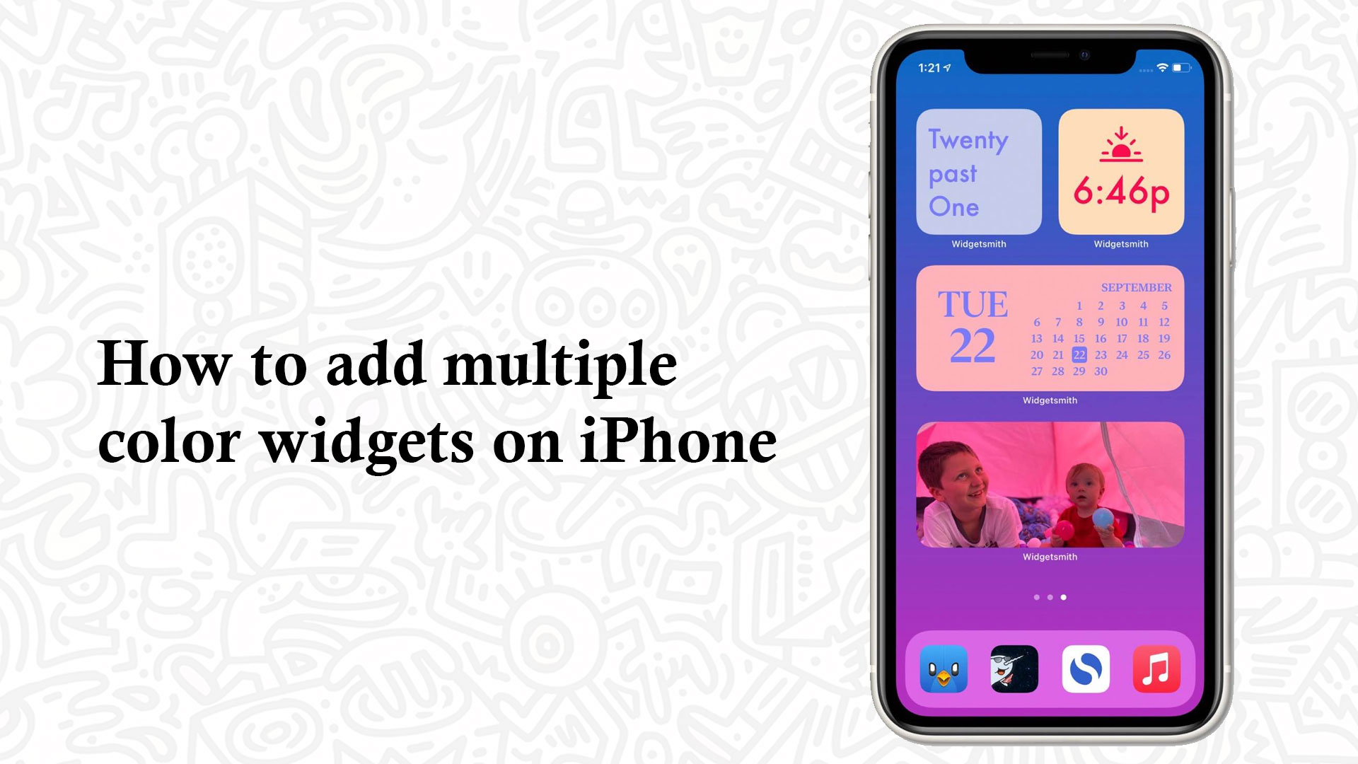 How to add multiple color widgets on iPhone