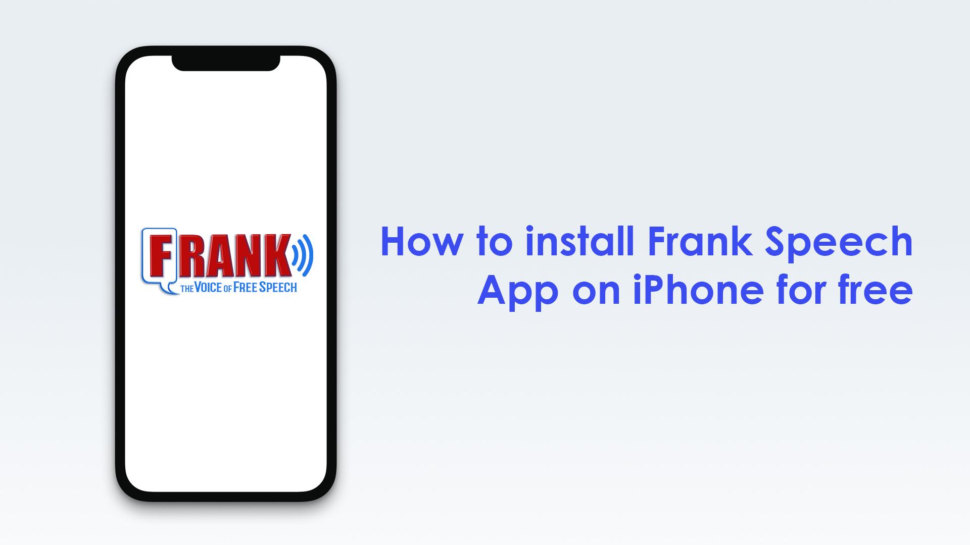 Frank speech app on iPhone