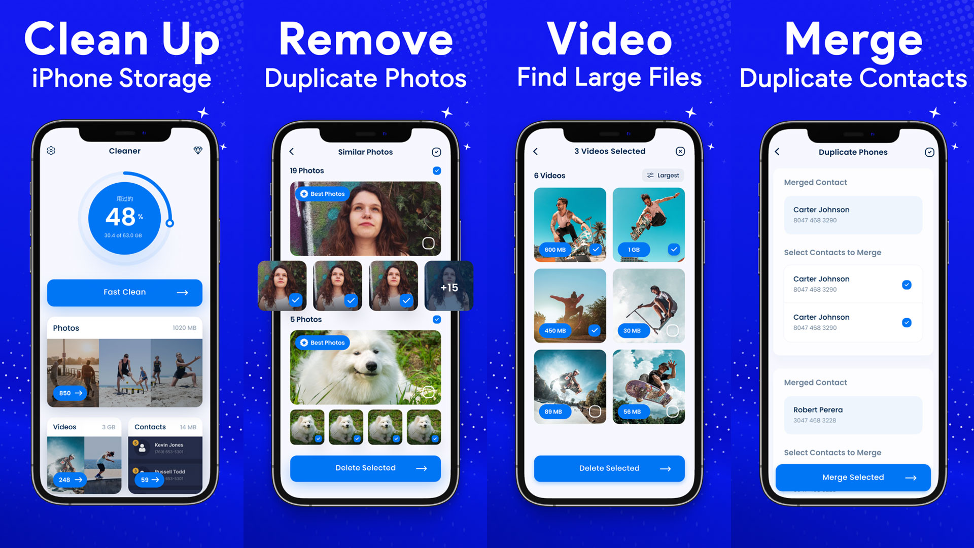 Cleaner app for iPhone